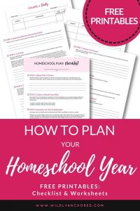 Free Homeschool Planning Pack