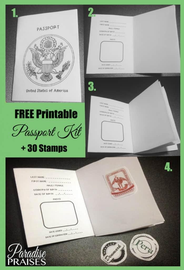 Printable Passport Kit - Homeschool Printables for Free