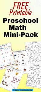 Preschool Math Mini-Pack