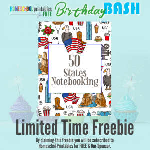 50 States Notebooking Pages