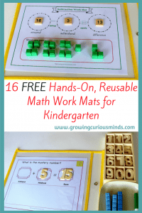 Kindergarten Math Work Mats