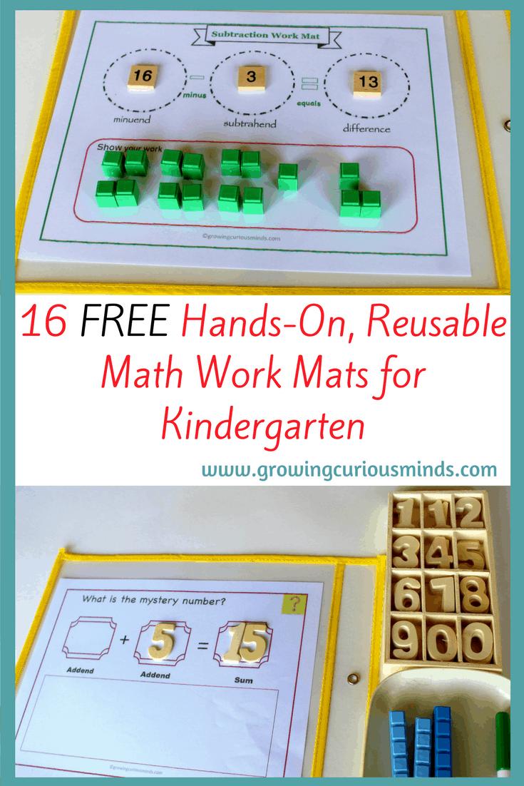 Kindergarten Math Work Mats