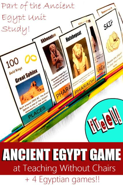 Free Printable Ancient Egypt Card Game