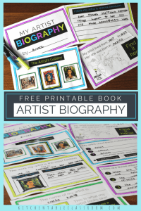 Printable Artist Biography Book