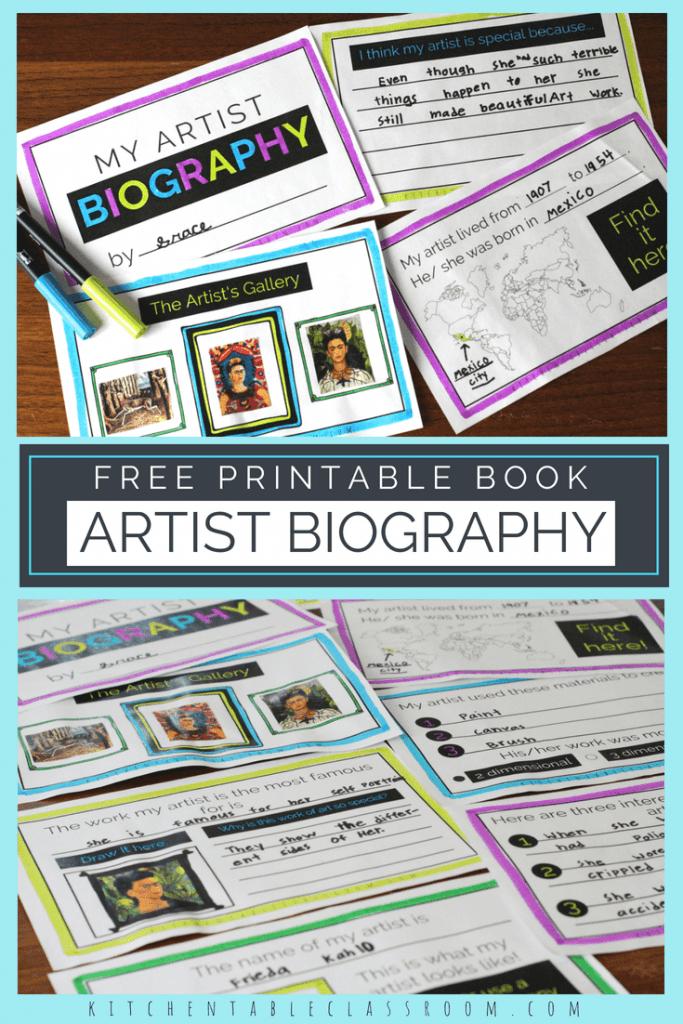 Printable Artist Biography Book