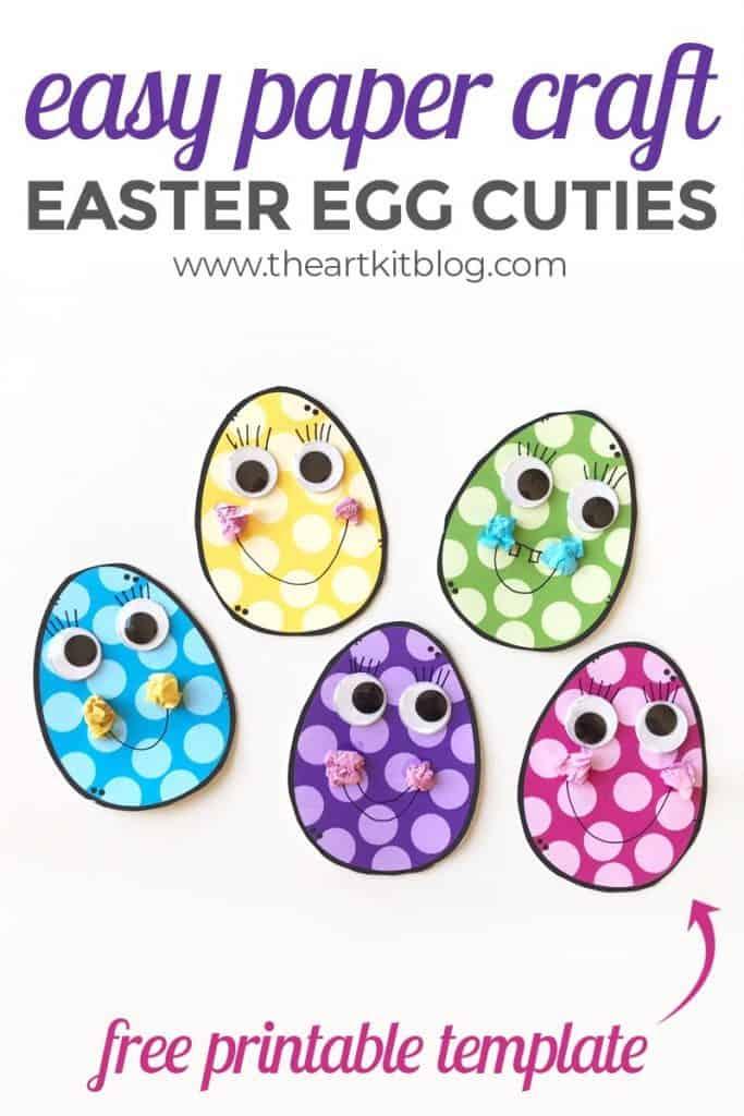 Easter Egg Craft Tempalte