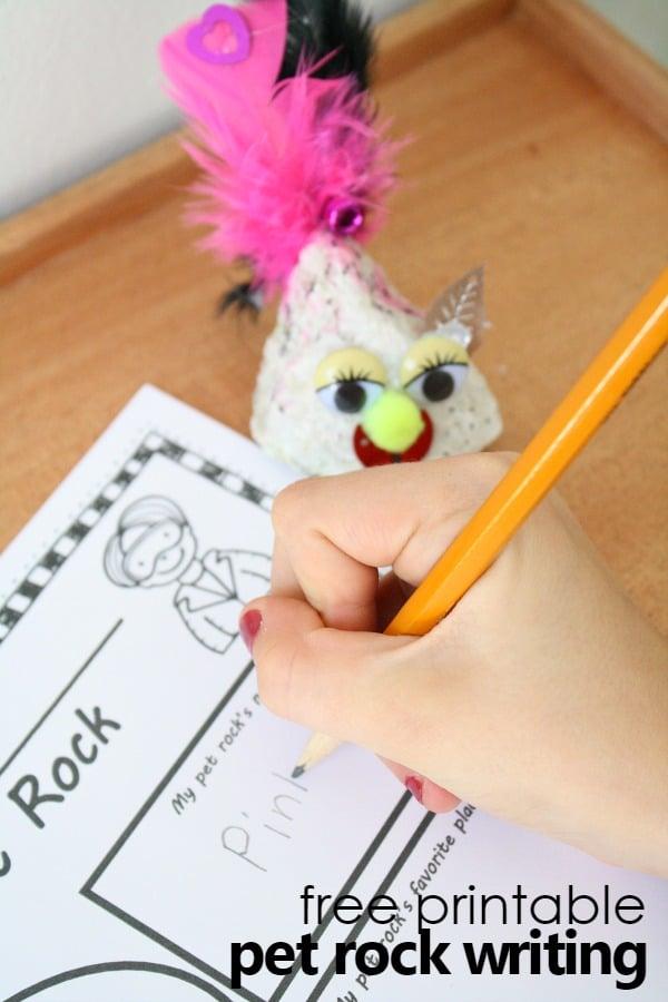 Printable Pet Rock Writing Activity