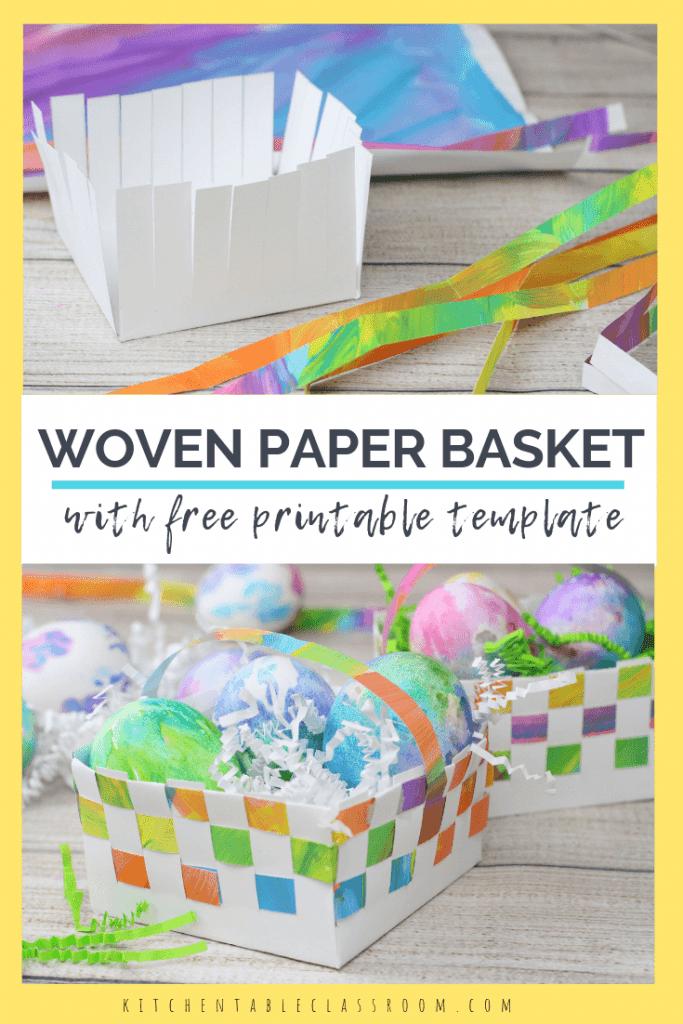 Printable Paper Basket Template