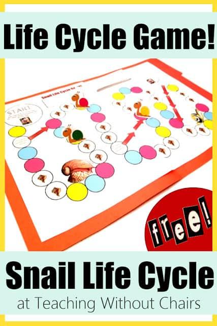 Free Printable Snail Life Cycle Game