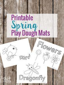 Spring Play Dough Mats