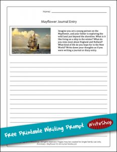 Mayflower Writing Prompt