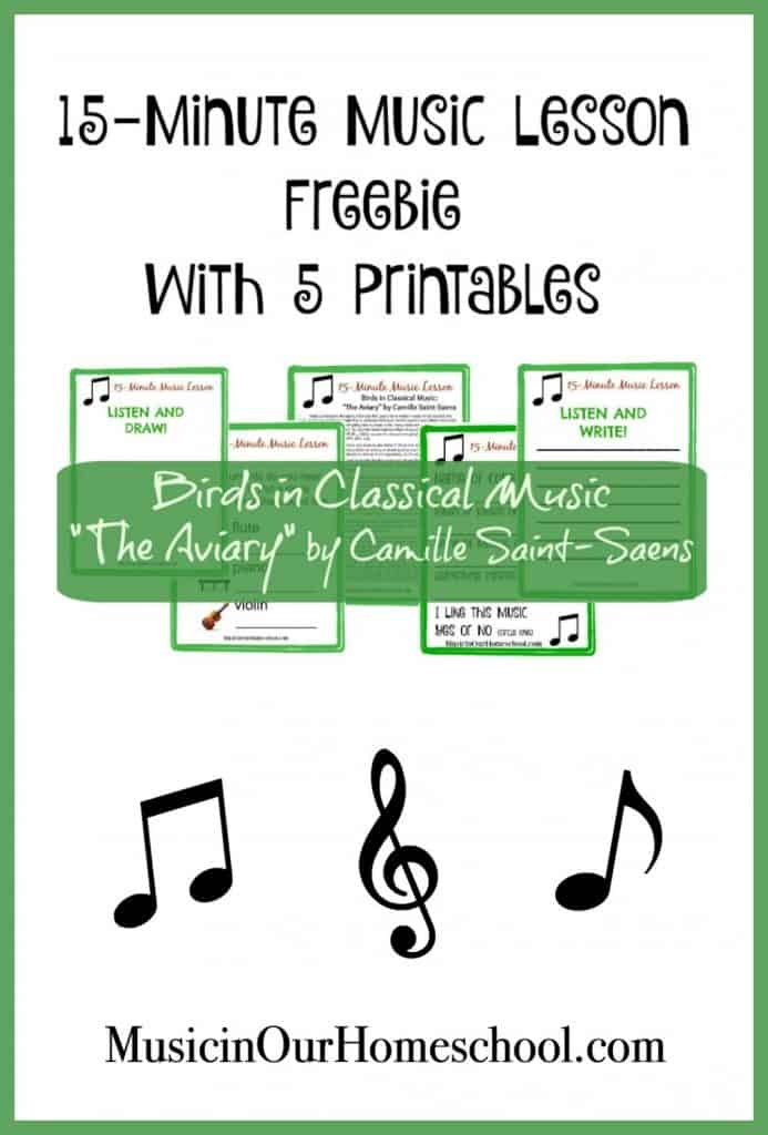 Birds in Classical Music Printable Pack