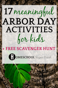 Arbor Day Trees Scavenger Hunt