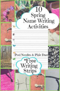 Spring Name Writing Strips