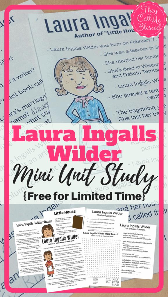 Free Laura Ingalls Wilder Unit Study