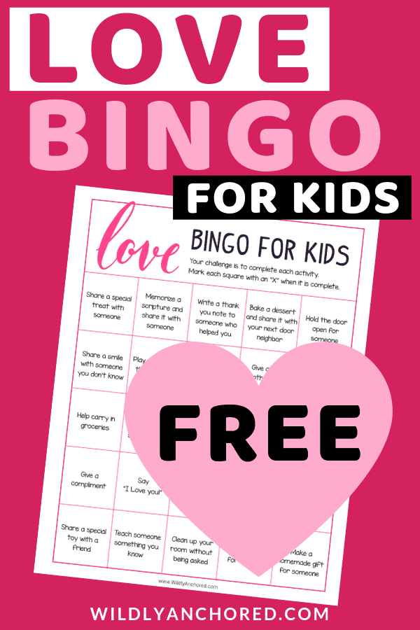 Free Love Bingo Game
