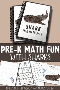 Shark Preschool Math Pack