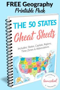 50 States Cheat Sheets