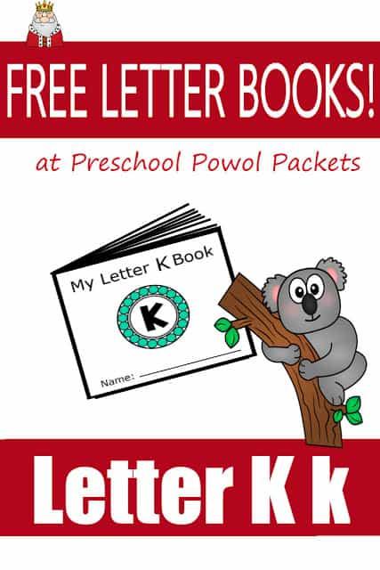 Letter K Mini-Book