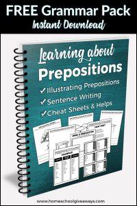 Free Prepositions Grammar Pack