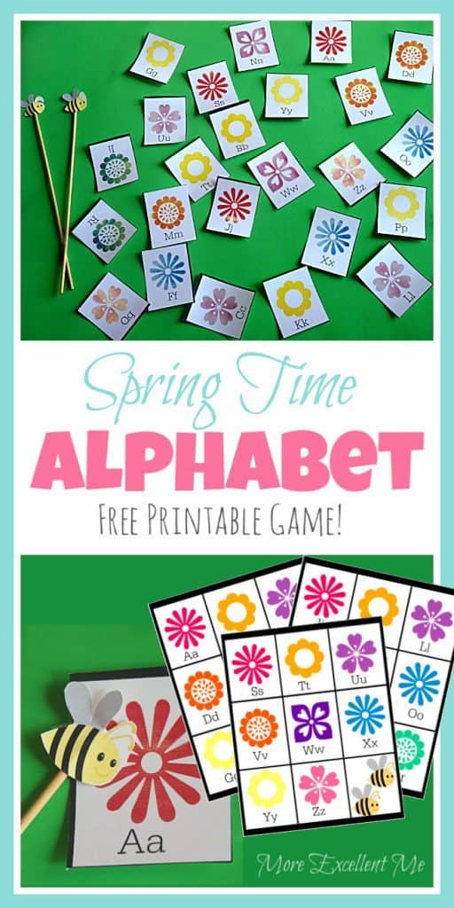 Spring Flowers Alphabet Game - Homeschool Printables for Free