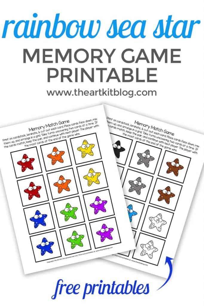 Rainbow Sea Star Memory Game