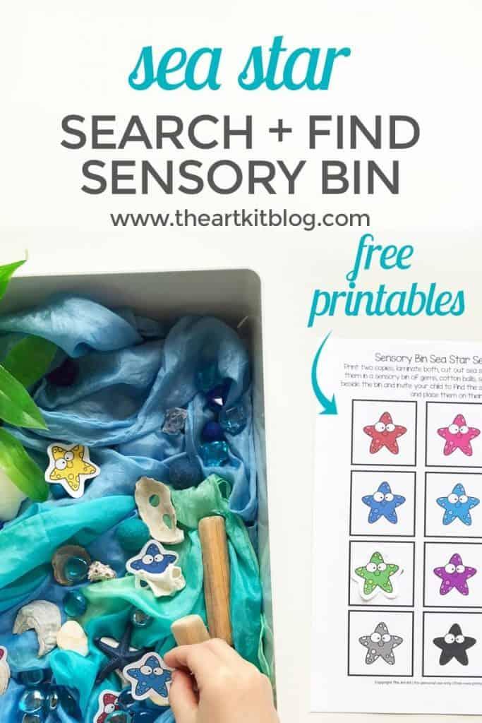 Sea Star Sensory Bin Printables