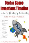Technology and Space History Timeline Activity