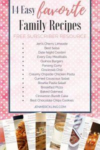 Easy Family Recipe Book