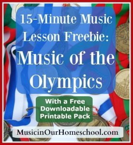 Music of the Olympics Printable Pack