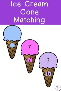 Ice Cream Cone Matching Activities