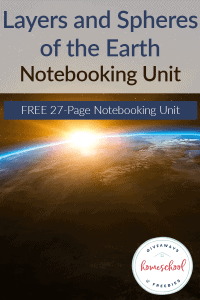 Layers and Spheres of the Earth Notebooking Journal
