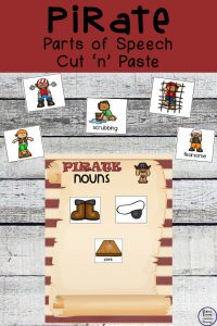Pirate Parts of Speech Activity