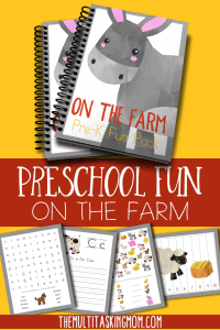 On The Farm Preschool Printable Pack