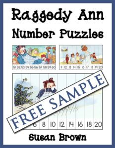 Raggedy Ann Skip Counting Puzzle
