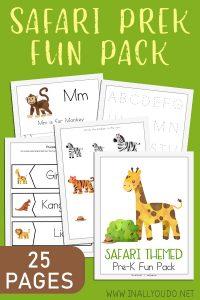 Safari Preschool Pack