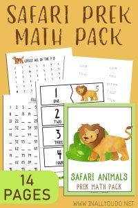 Preschool Safari Math Pack