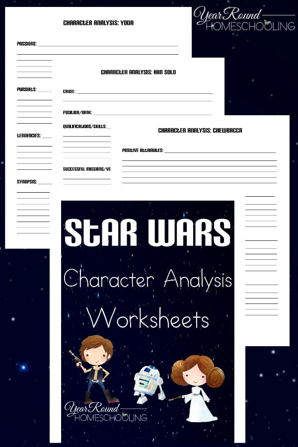 Star Wars Character Analysis Pages
