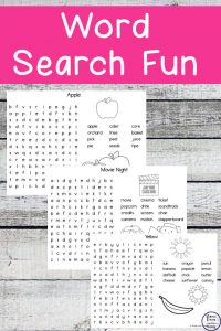 Word Search Fun Pack