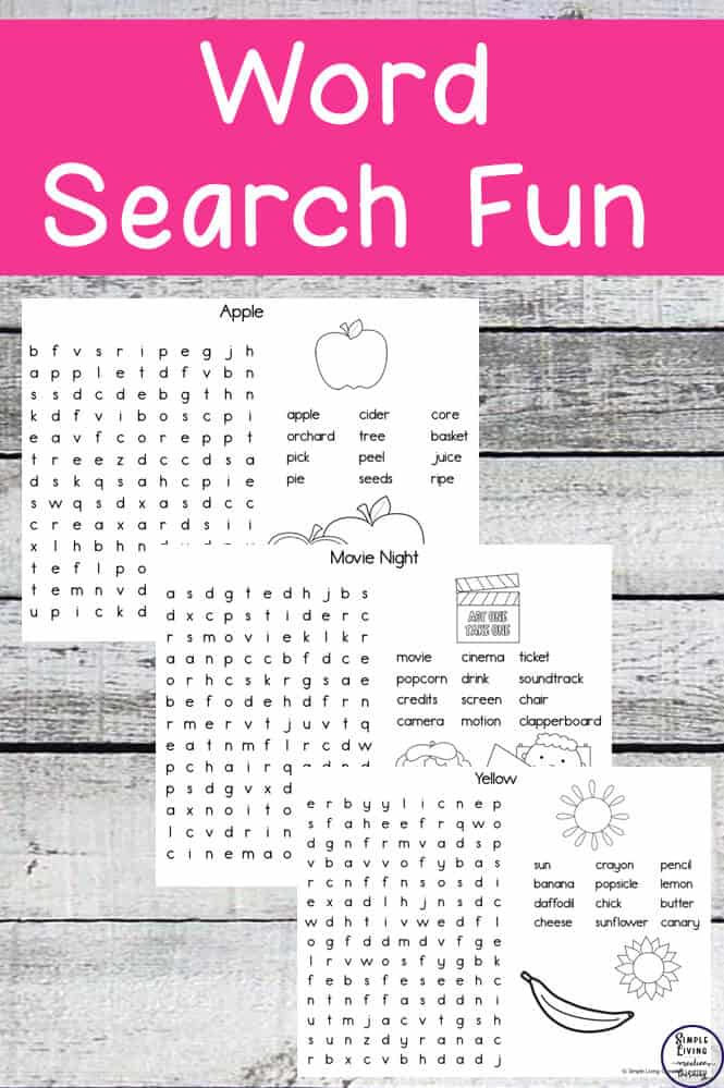 Word Search Fun Pack