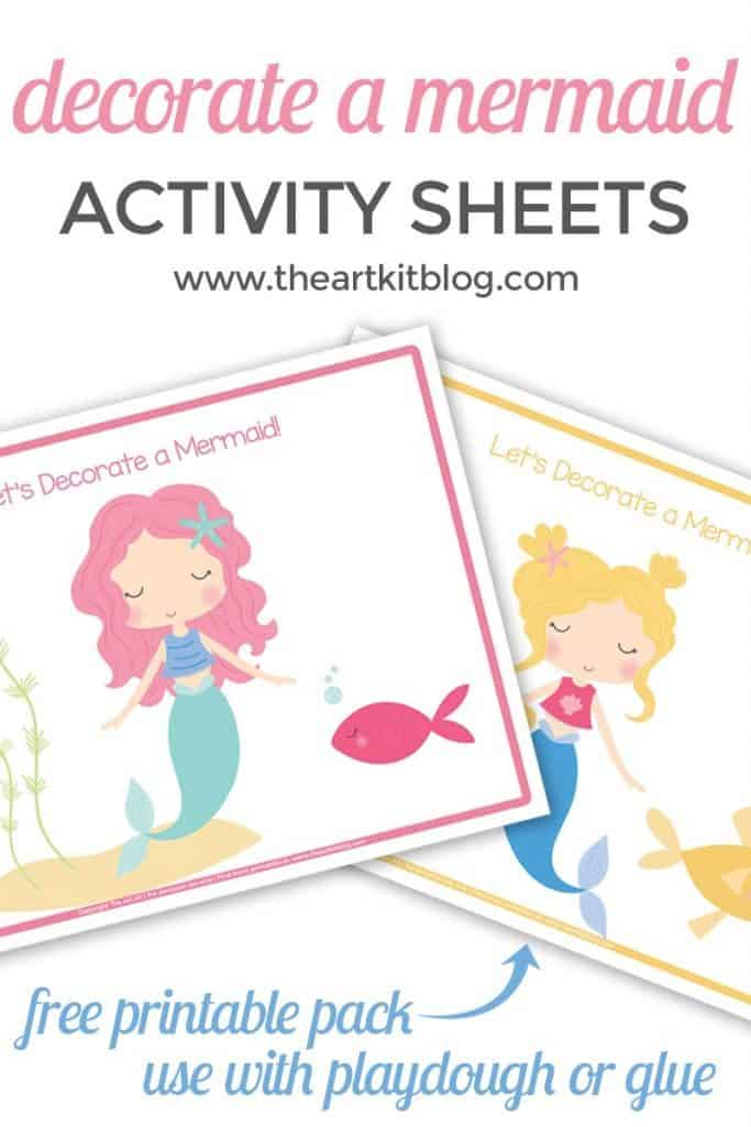 Decorate a Mermaid Activity