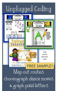 Unplugged Coding a Treasure Map Activity