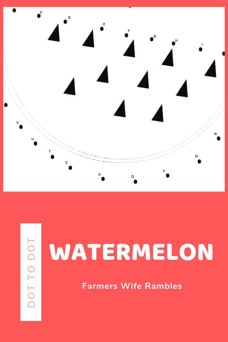 Watermelon Dot to Dot Printable