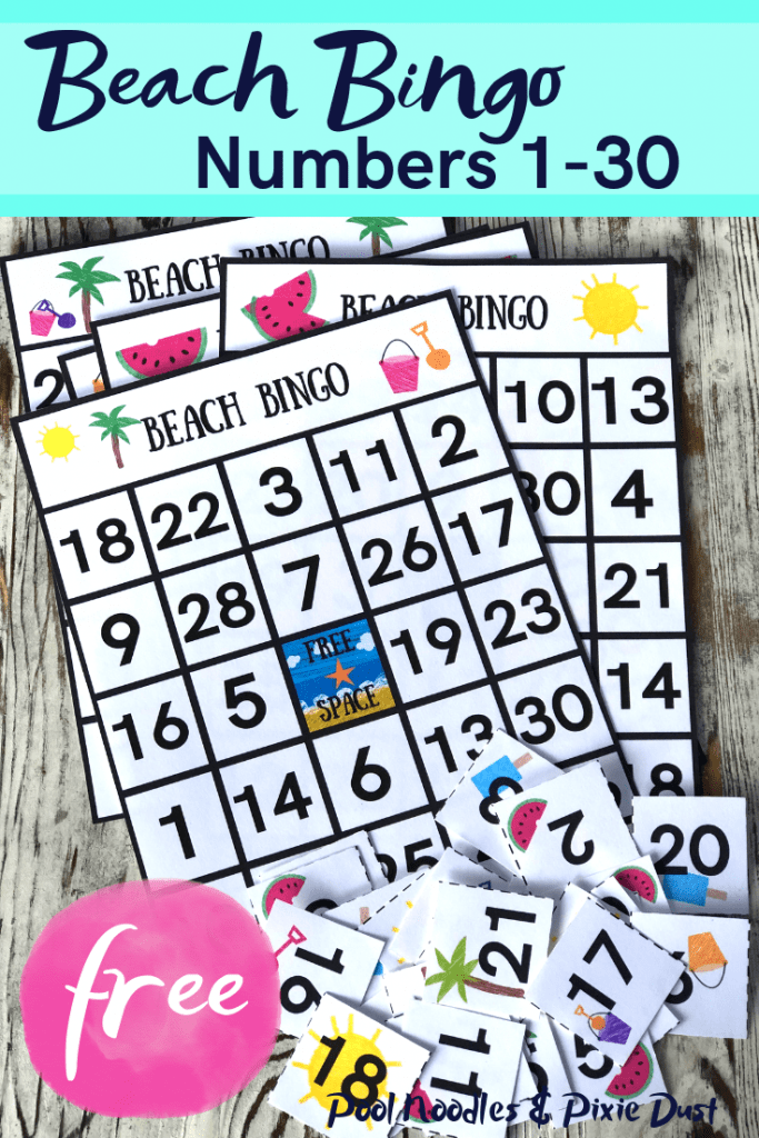 Printable Beach Bingo Game