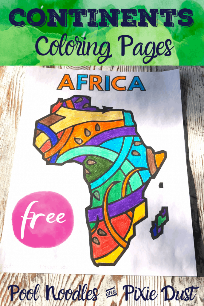 Continents Coloring Pages