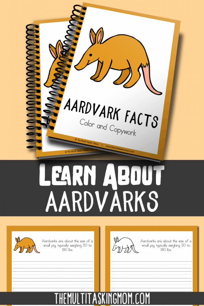 Aardvark Color and Copywork