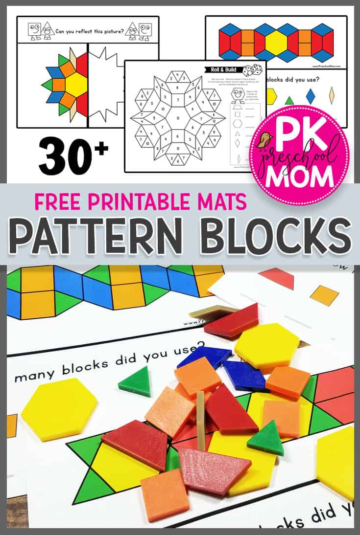 Free Printable Pattern Block Mats