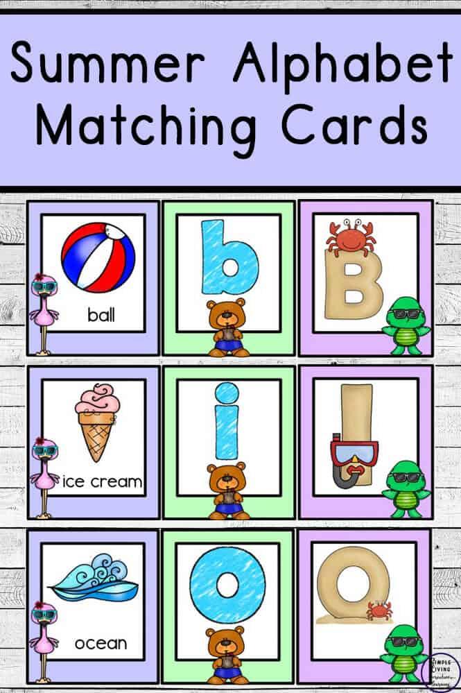 Summer Alphabet Matching