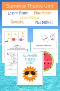 Summer Preschool Theme Printable Pack