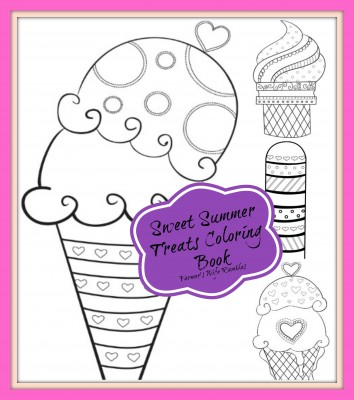 Summer Treats Coloring Book